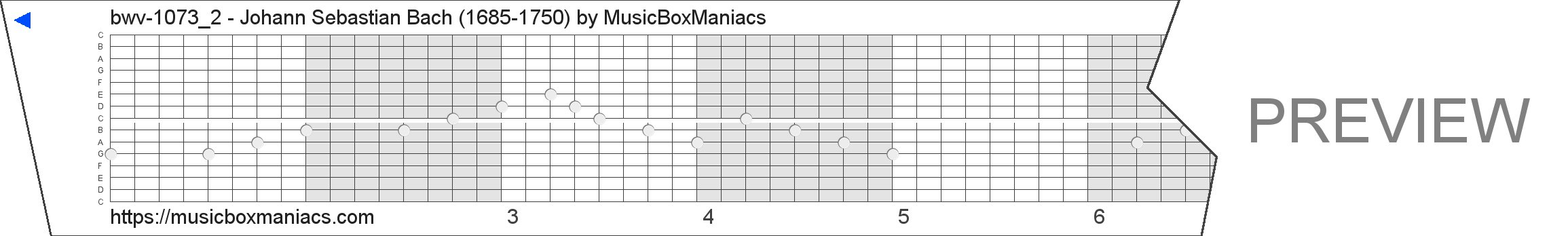 bwv-1073_2 - Johann Sebastian Bach (1685-1750) 15 note music box paper strip