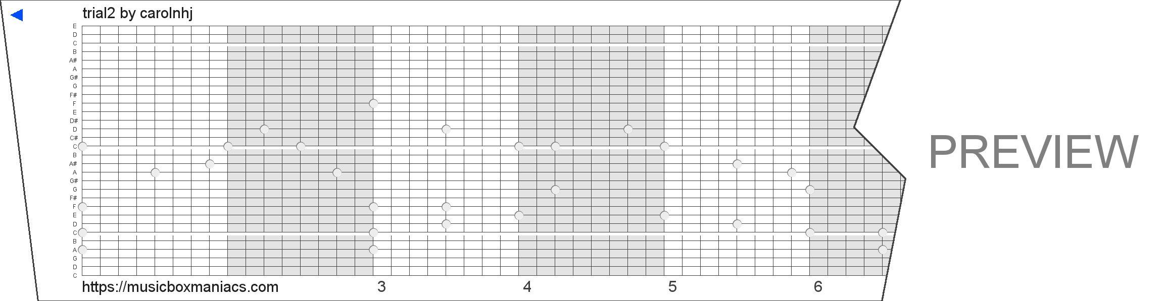 trial2 30 note music box paper strip