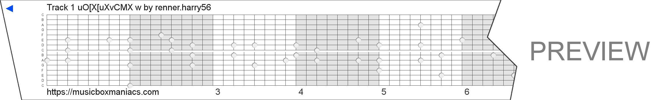 """Track 1 uƒOƒŠ[ƒ""""ƒXƒŠ[ƒuƒXvƒCƒMƒŠƒX–¯—w 15 note music box paper strip"""