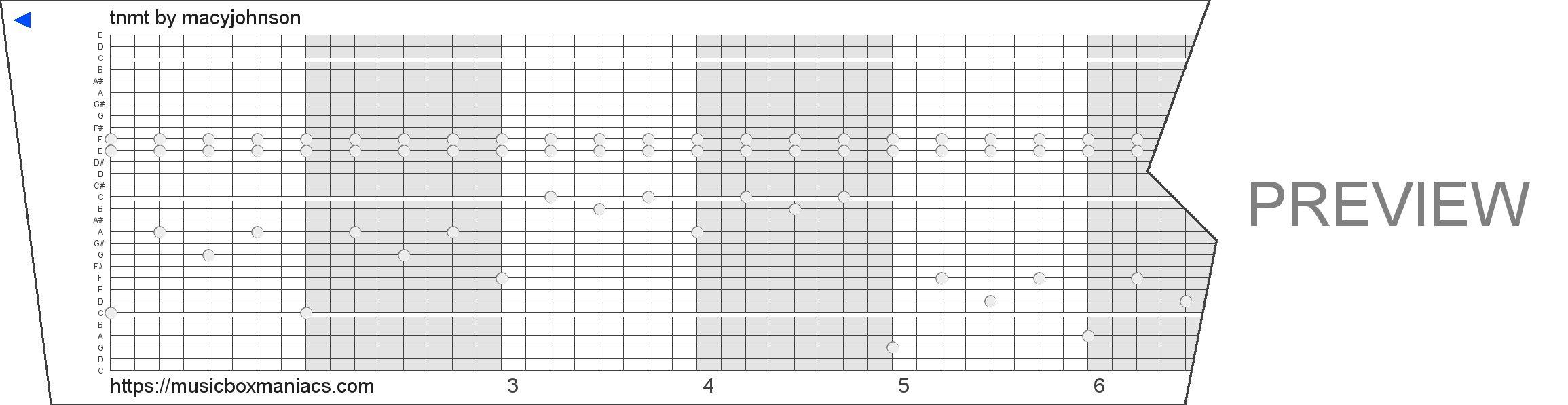 tnmt 30 note music box paper strip