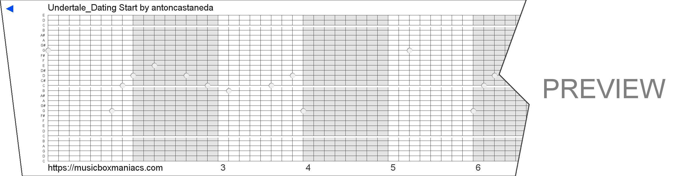 Undertale_Dating Start 30 note music box paper strip