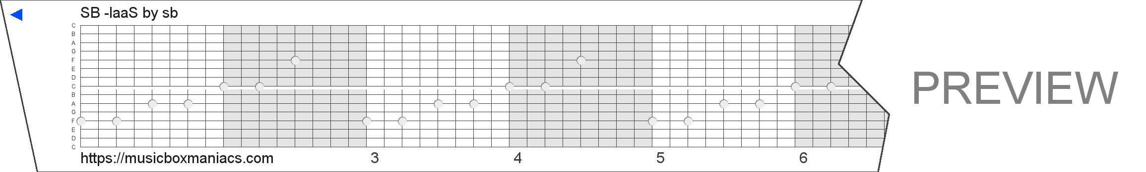 SB -IaaS 15 note music box paper strip