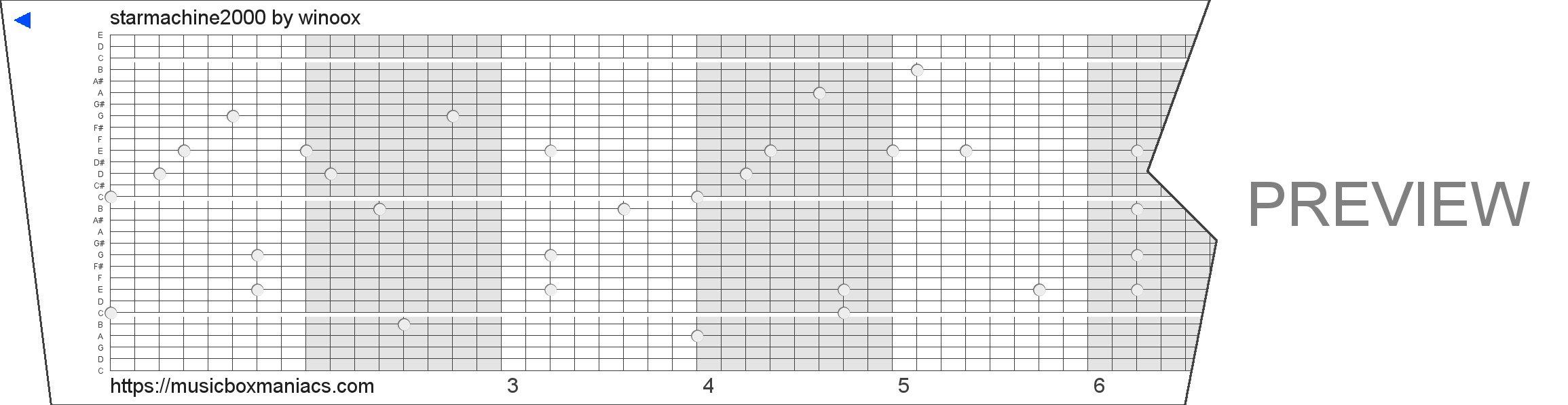 starmachine2000 30 note music box paper strip