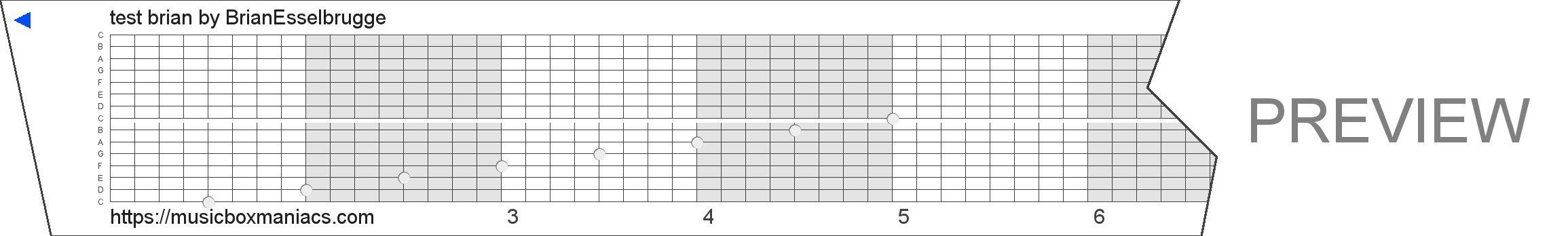 test brian 15 note music box paper strip
