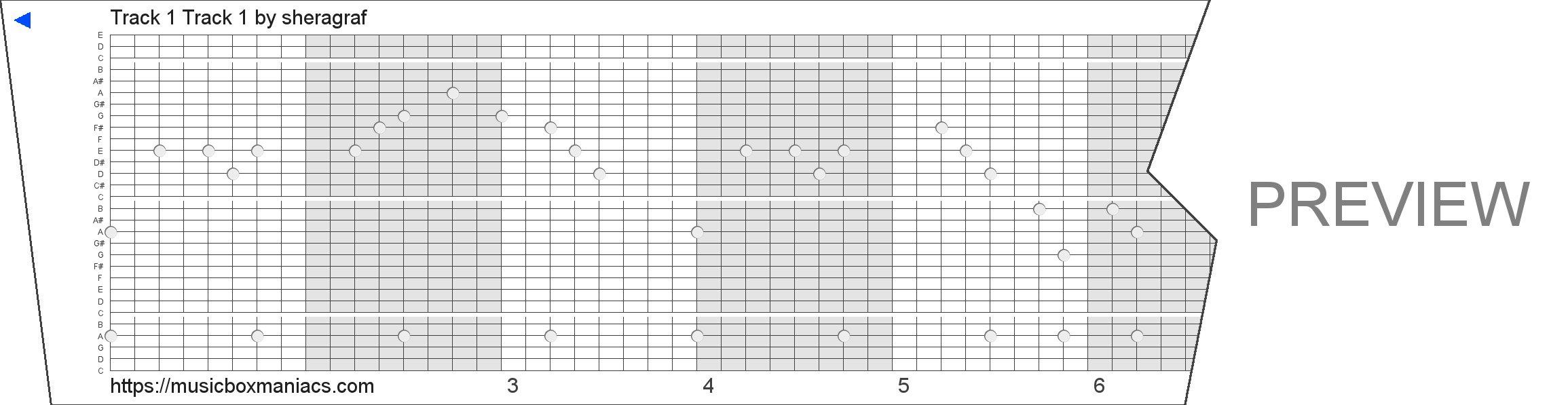 Track 1 Track 1 30 note music box paper strip