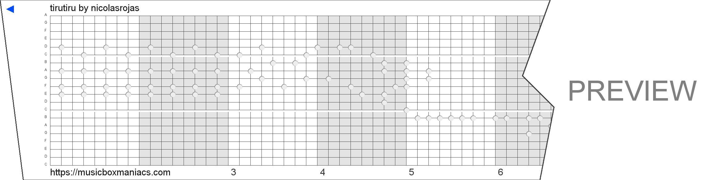 tirutiru 20 note music box paper strip