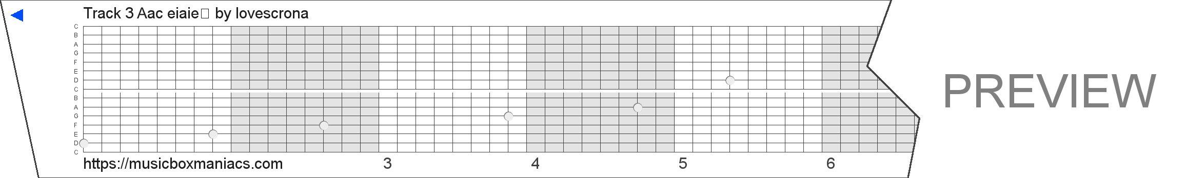 Track 3 Áåç èìåíè 15 note music box paper strip