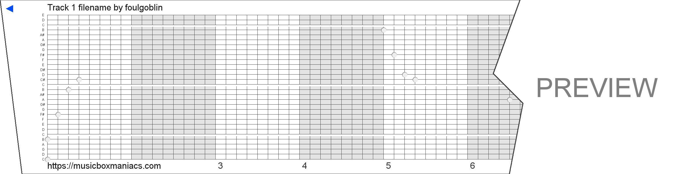 Track 1 filename 30 note music box paper strip