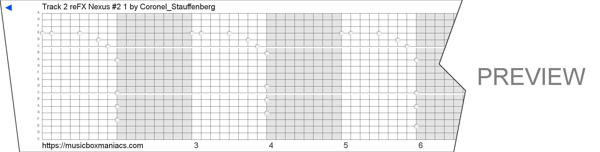 Track 2 reFX Nexus #2 1 20 note music box paper strip