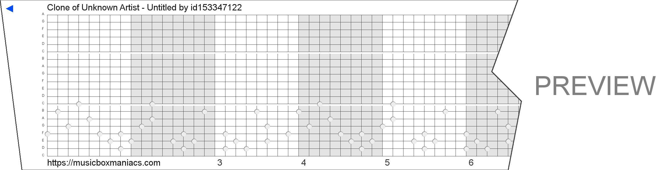Clone of Unknown Artist - Untitled 20 note music box paper strip