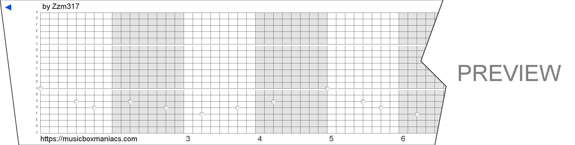 前尘如梦 20 note music box paper strip