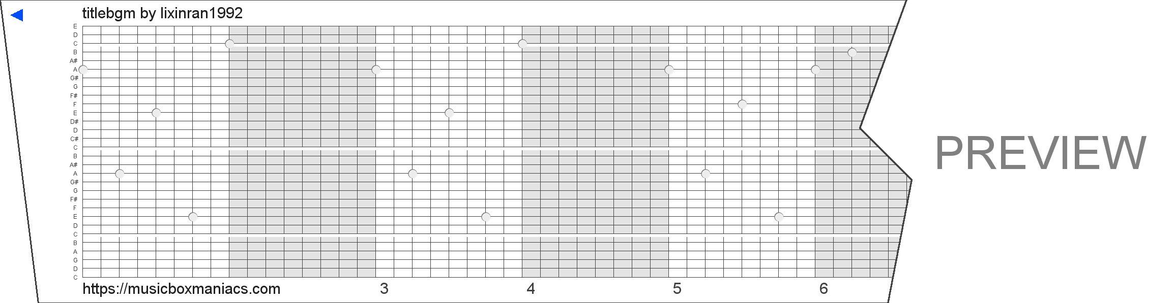 titlebgm 30 note music box paper strip