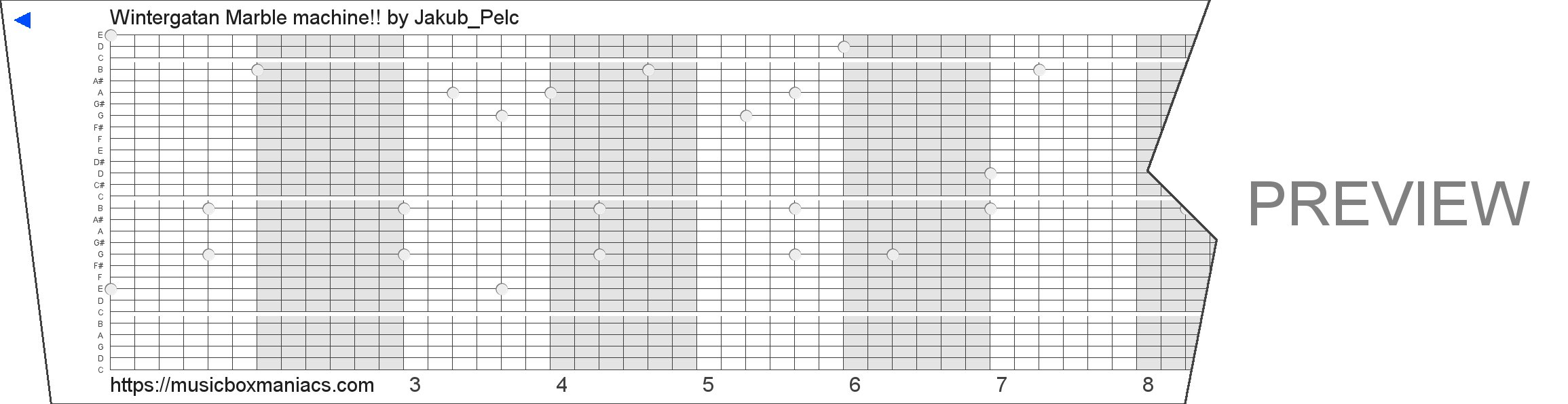 Wintergatan Marble machine!! 30 note music box paper strip