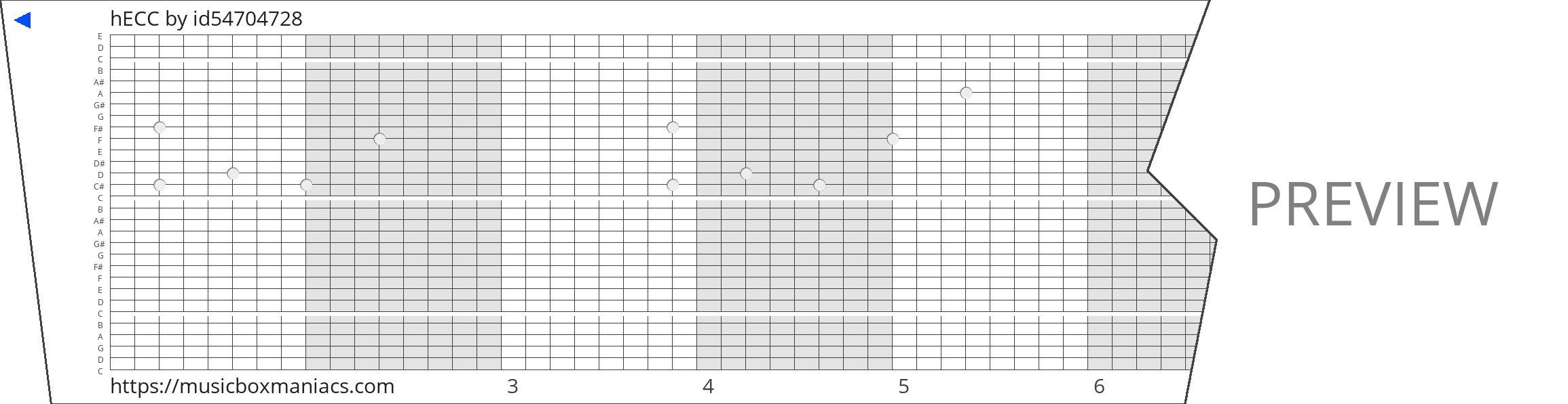 hECC 30 note music box paper strip