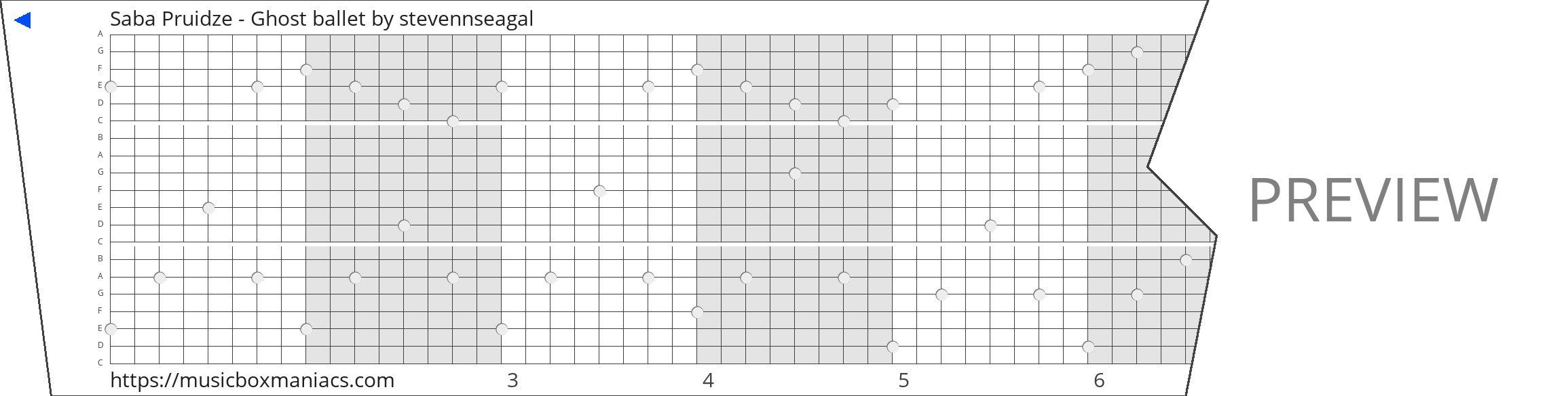 Saba Pruidze - Ghost ballet 20 note music box paper strip