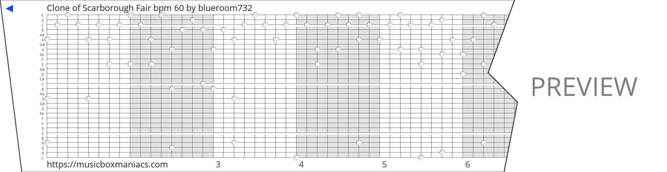 Clone of Scarborough Fair bpm 60 30 note music box paper strip