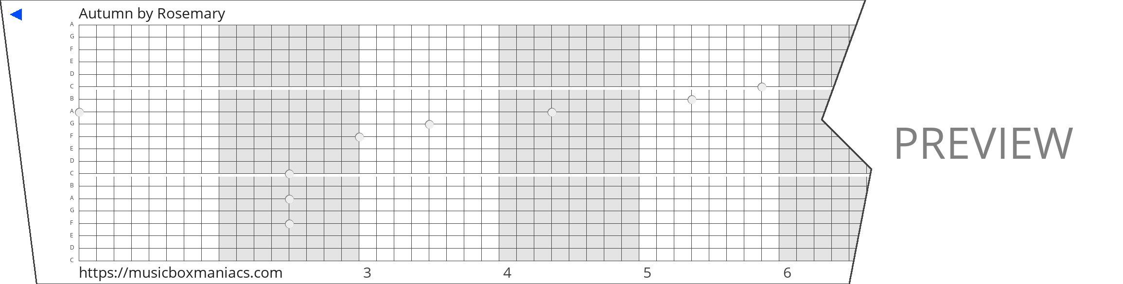 Autumn 20 note music box paper strip