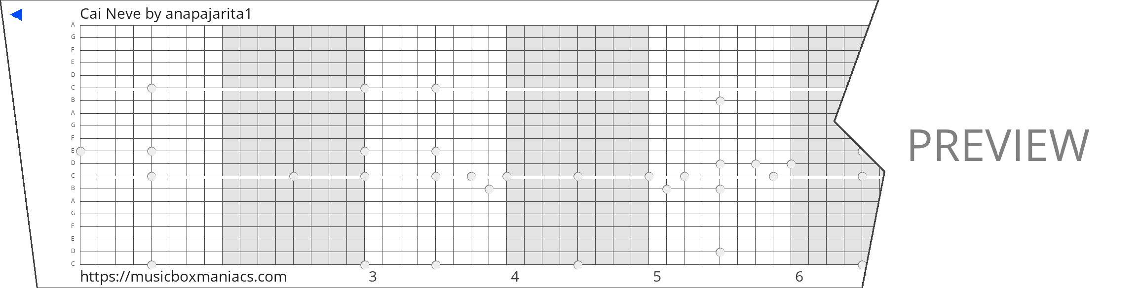Cai Neve 20 note music box paper strip
