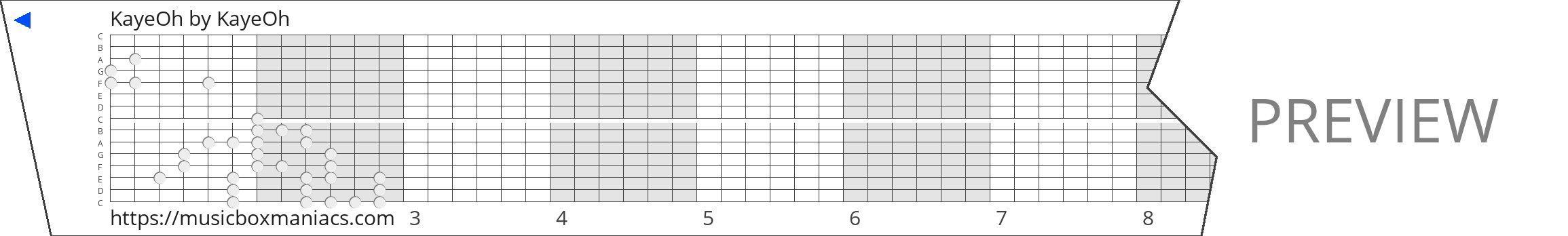 KayeOh 15 note music box paper strip