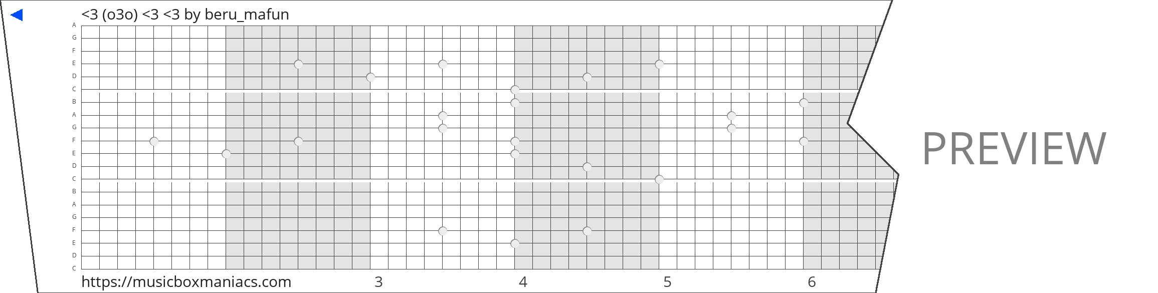 <3 (o3o) <3 <3 20 note music box paper strip