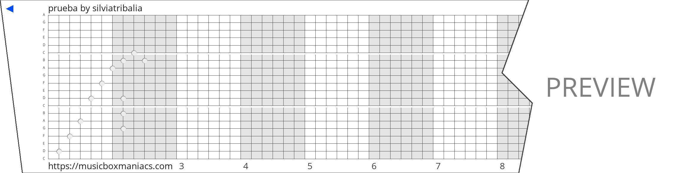 prueba 20 note music box paper strip
