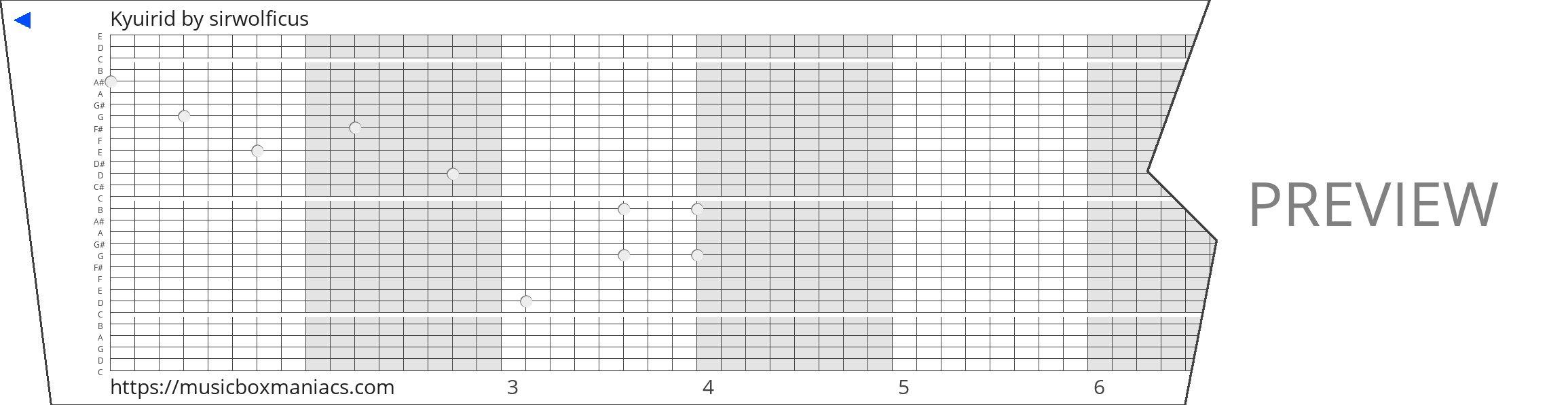 Kyuirid 30 note music box paper strip