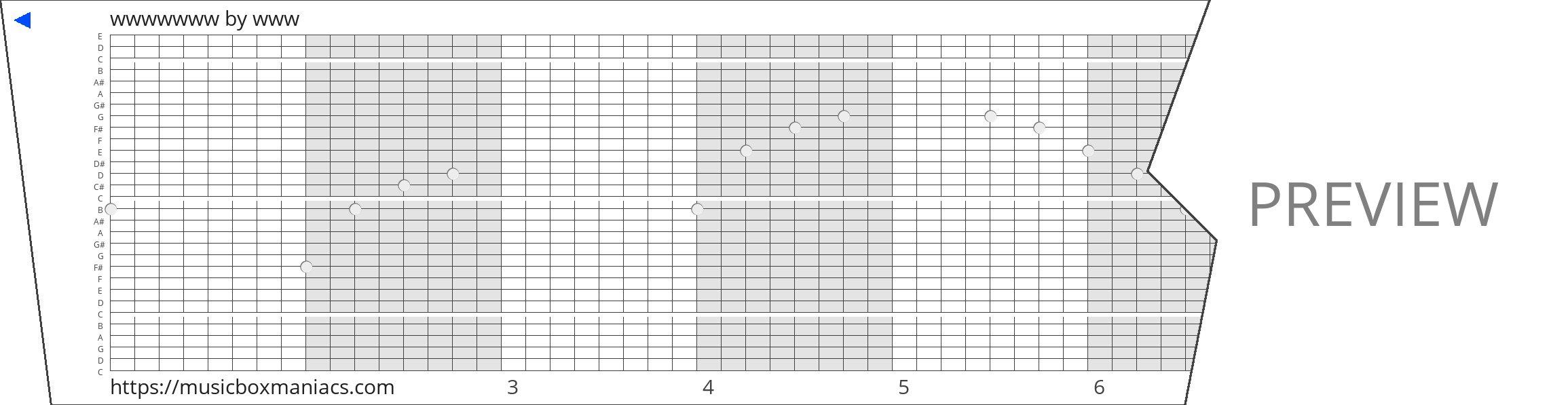 wwwwwww 30 note music box paper strip