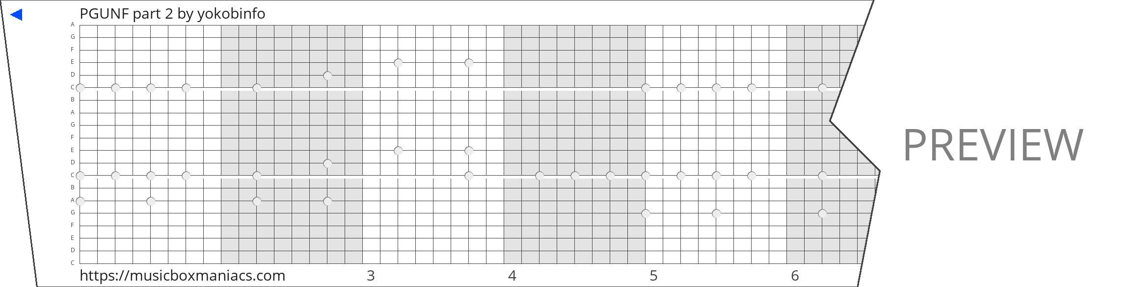 PGUNF part 2 20 note music box paper strip