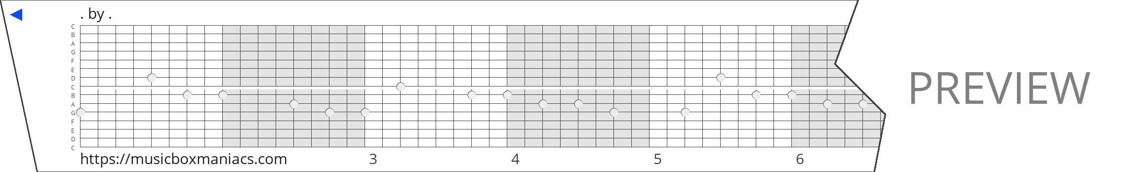 . 15 note music box paper strip