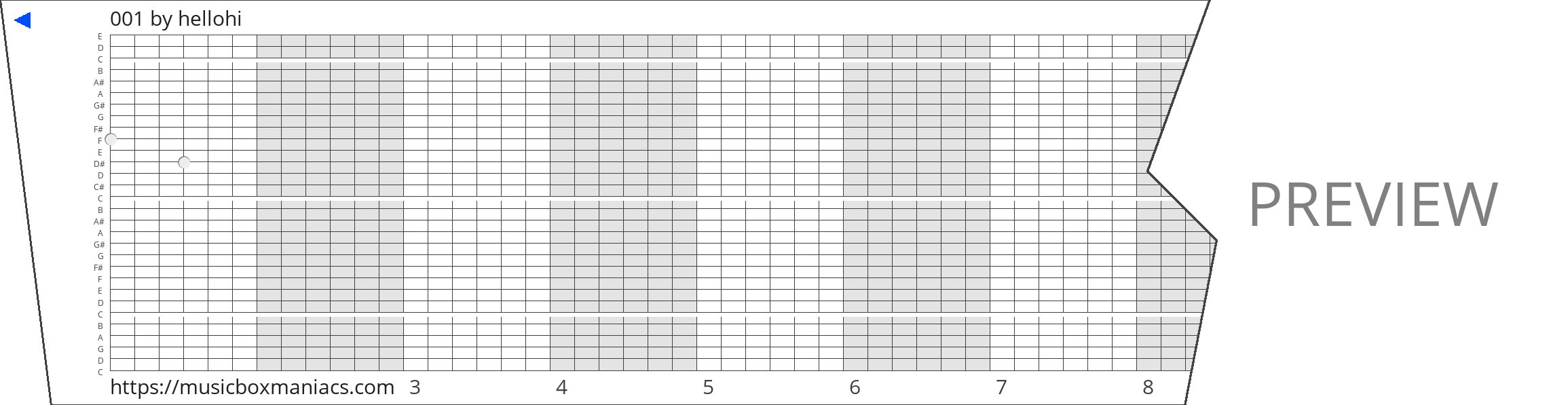 001 30 note music box paper strip