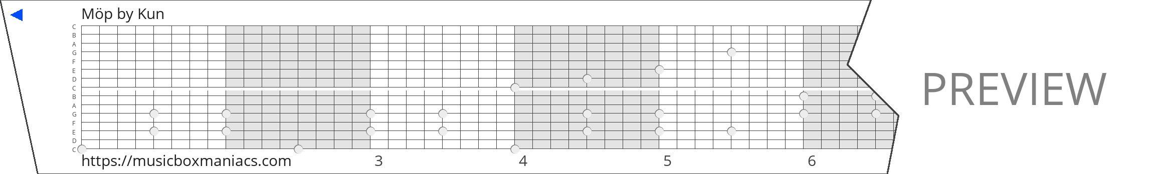 Möp 15 note music box paper strip
