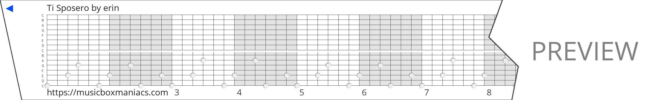 Ti Sposero 15 note music box paper strip