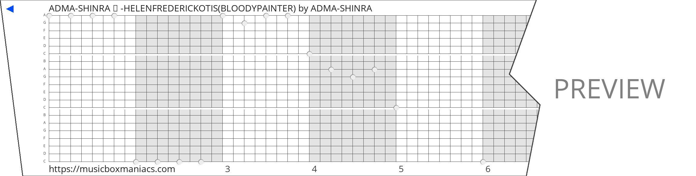 ADMA-SHINRA ♥ -HELENFREDERICKOTIS(BLOODYPAINTER) 20 note music box paper strip