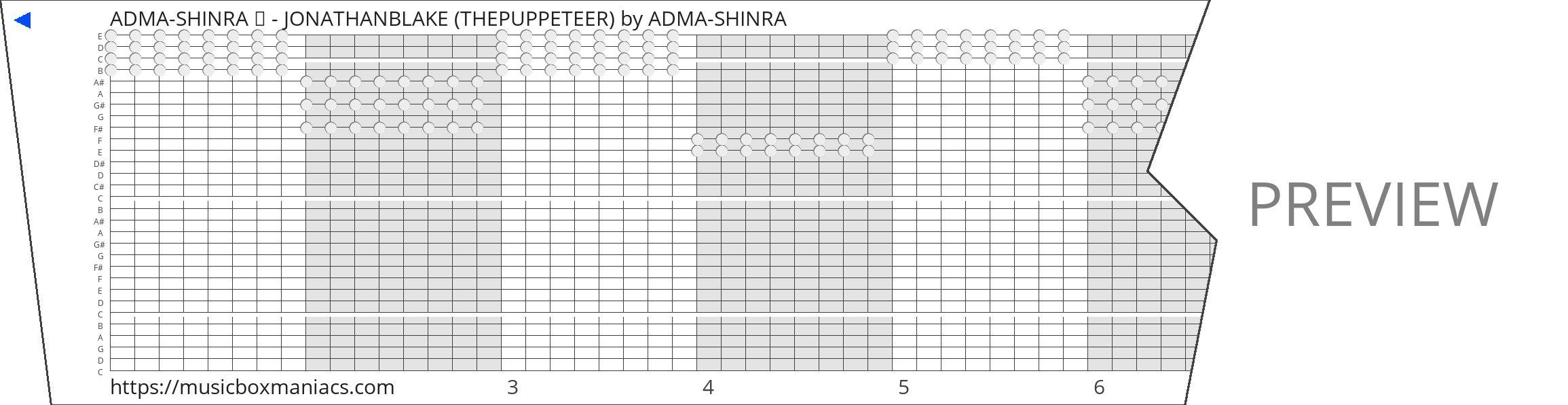 ADMA-SHINRA ♥ - JONATHANBLAKE (THEPUPPETEER) 30 note music box paper strip