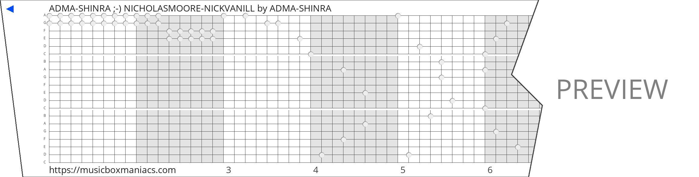ADMA-SHINRA ;-) NICHOLASMOORE-NICKVANILL 20 note music box paper strip