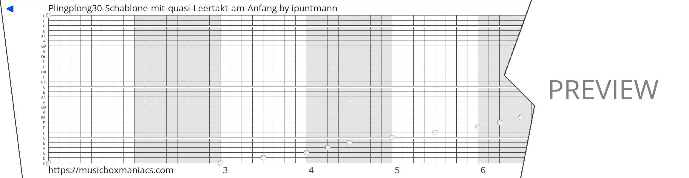 Plingplong30-Schablone-mit-quasi-Leertakt-am-Anfang 30 note music box paper strip