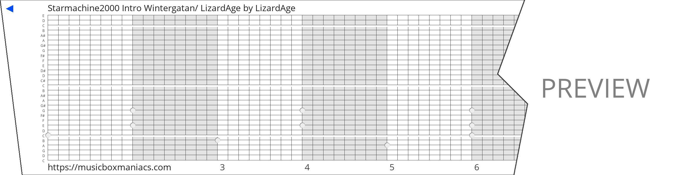 Starmachine2000 Intro Wintergatan/ LizardAge 30 note music box paper strip