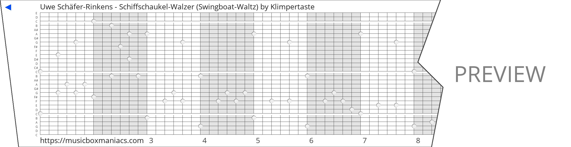 Uwe Schäfer-Rinkens - Schiffschaukel-Walzer (Swingboat-Waltz) 30 note music box paper strip