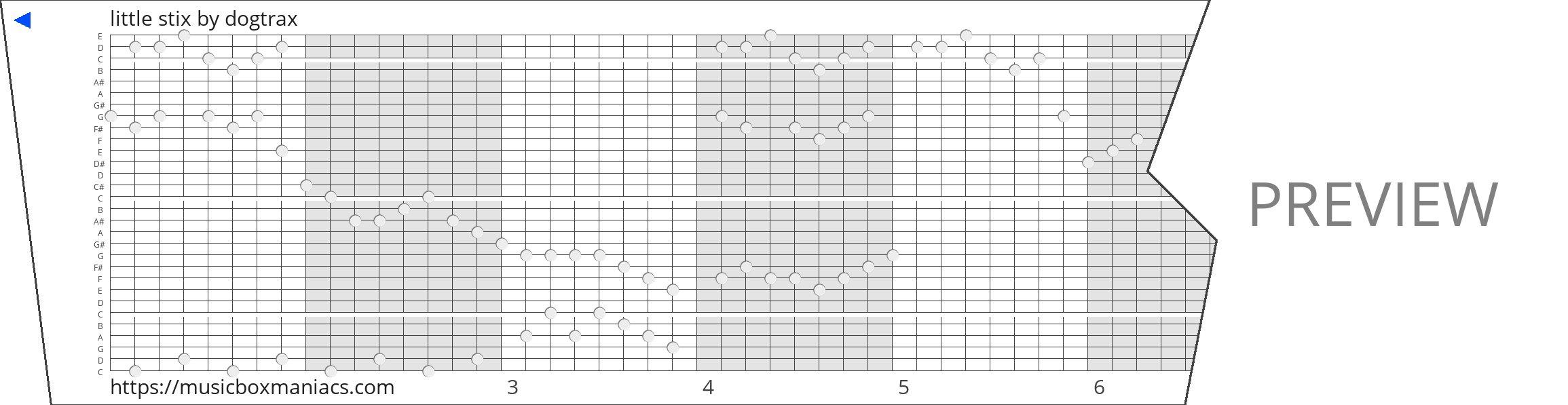 little stix 30 note music box paper strip
