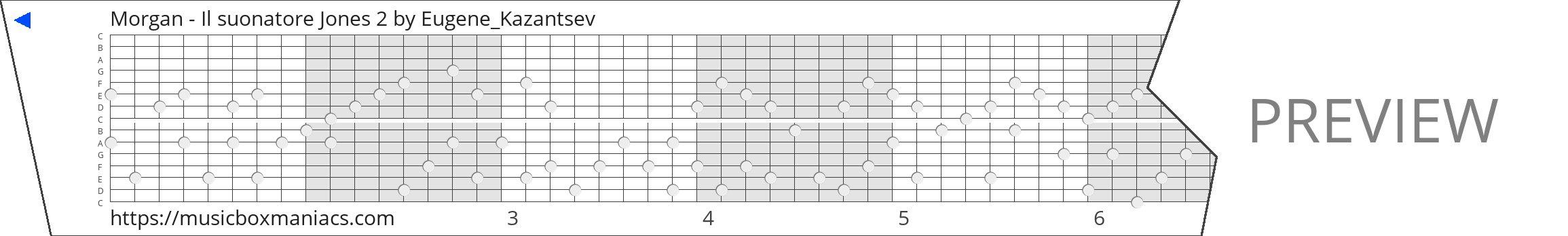 Morgan - Il suonatore Jones 2 15 note music box paper strip