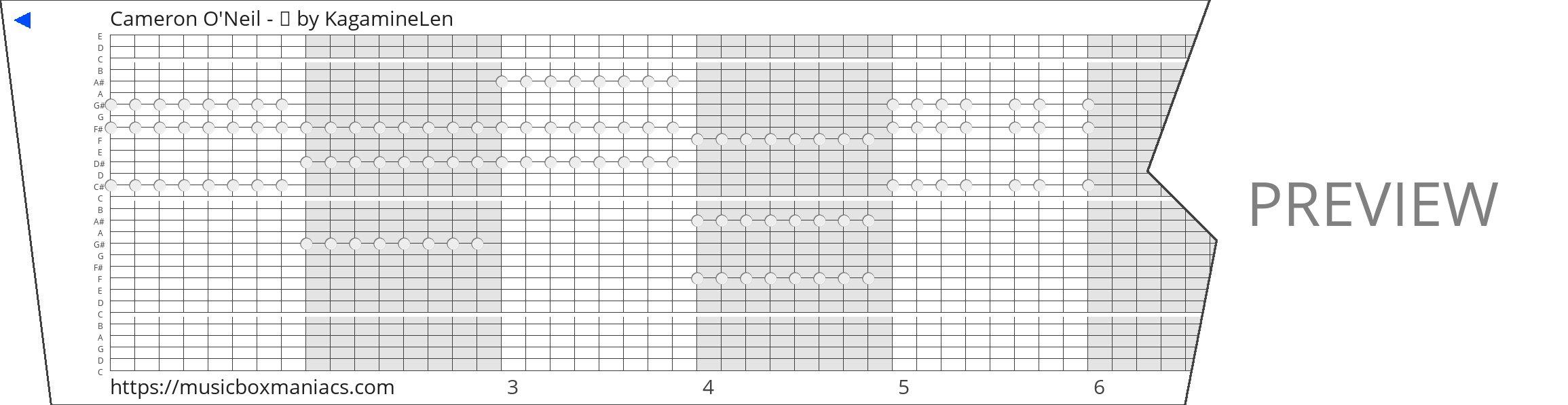 Cameron O'Neil - ⚖ 30 note music box paper strip