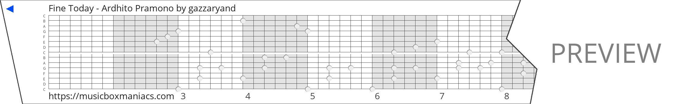 Fine Today - Ardhito Pramono 15 note music box paper strip