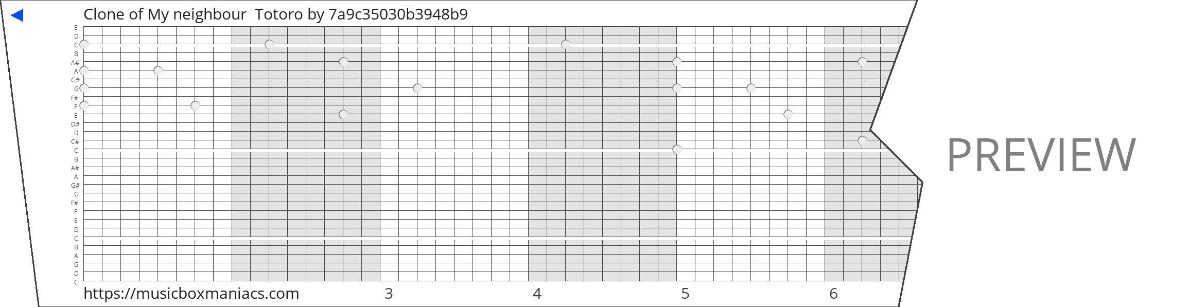 Clone of My neighbour  Totoro 30 note music box paper strip