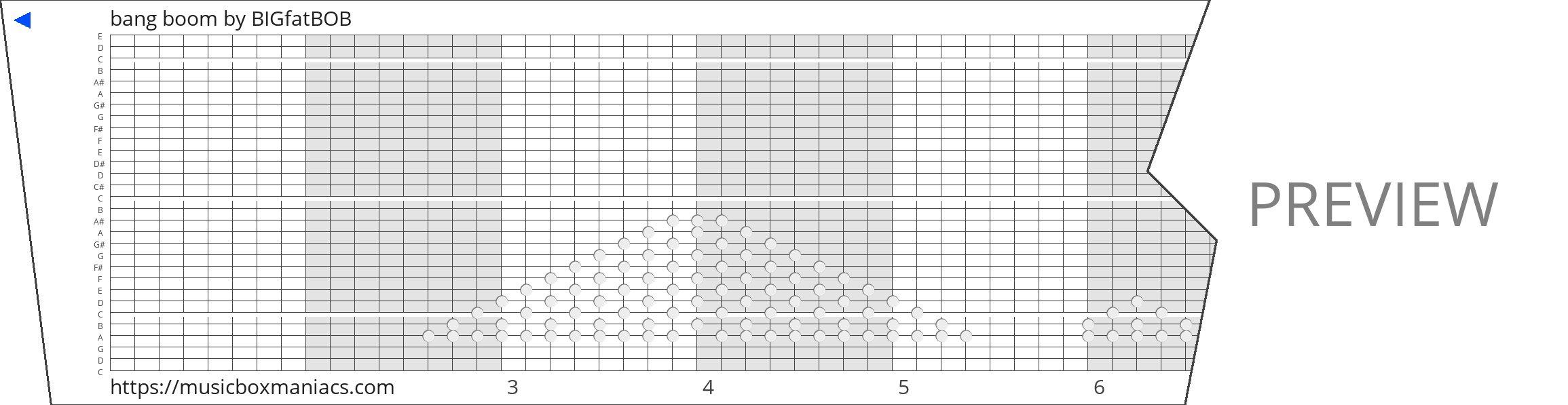 bang boom 30 note music box paper strip