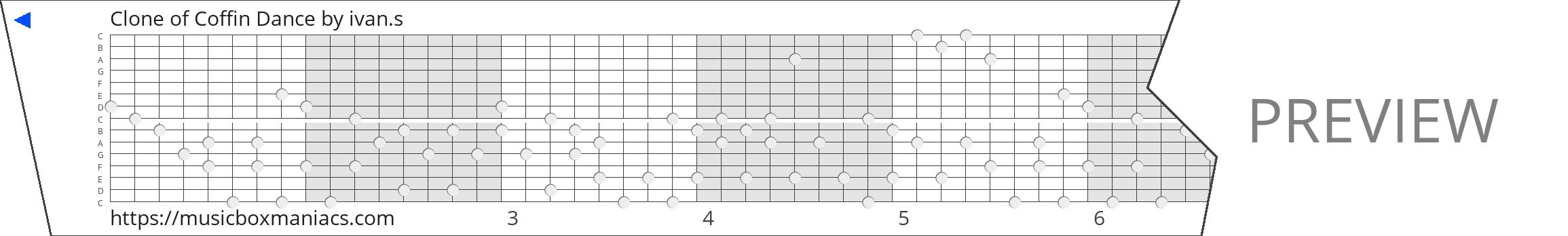 Clone of Coffin Dance 15 note music box paper strip