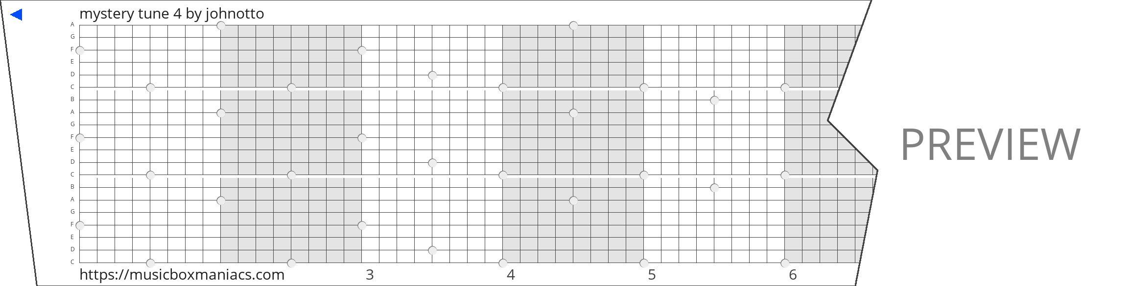 mystery tune 4 20 note music box paper strip