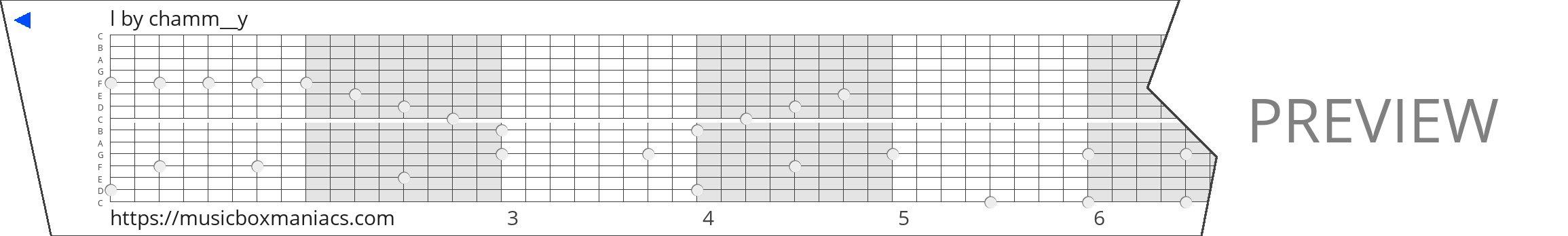 l 15 note music box paper strip