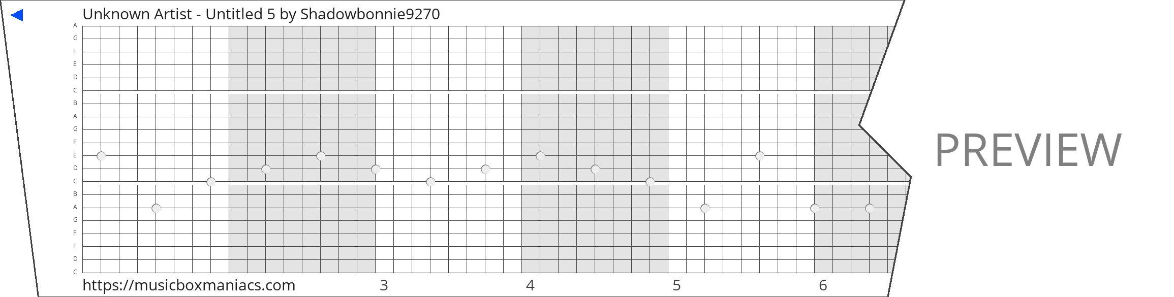 Unknown Artist - Untitled 5 20 note music box paper strip