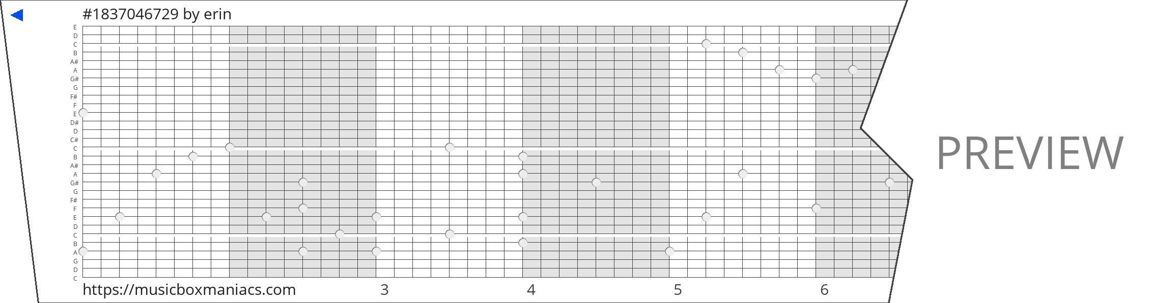 #1837046729 30 note music box paper strip
