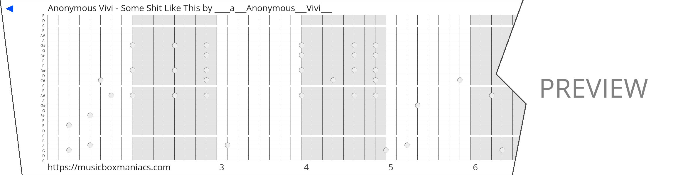 Anonymous Vivi - Some Shit Like This 30 note music box paper strip